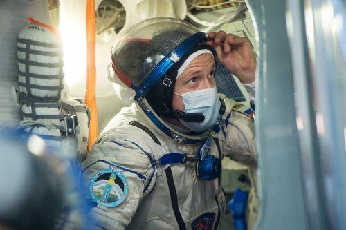 El astronauta ruso Kud-Sverchkov. Foto: AFP/ Agencia Espacial Rusa.