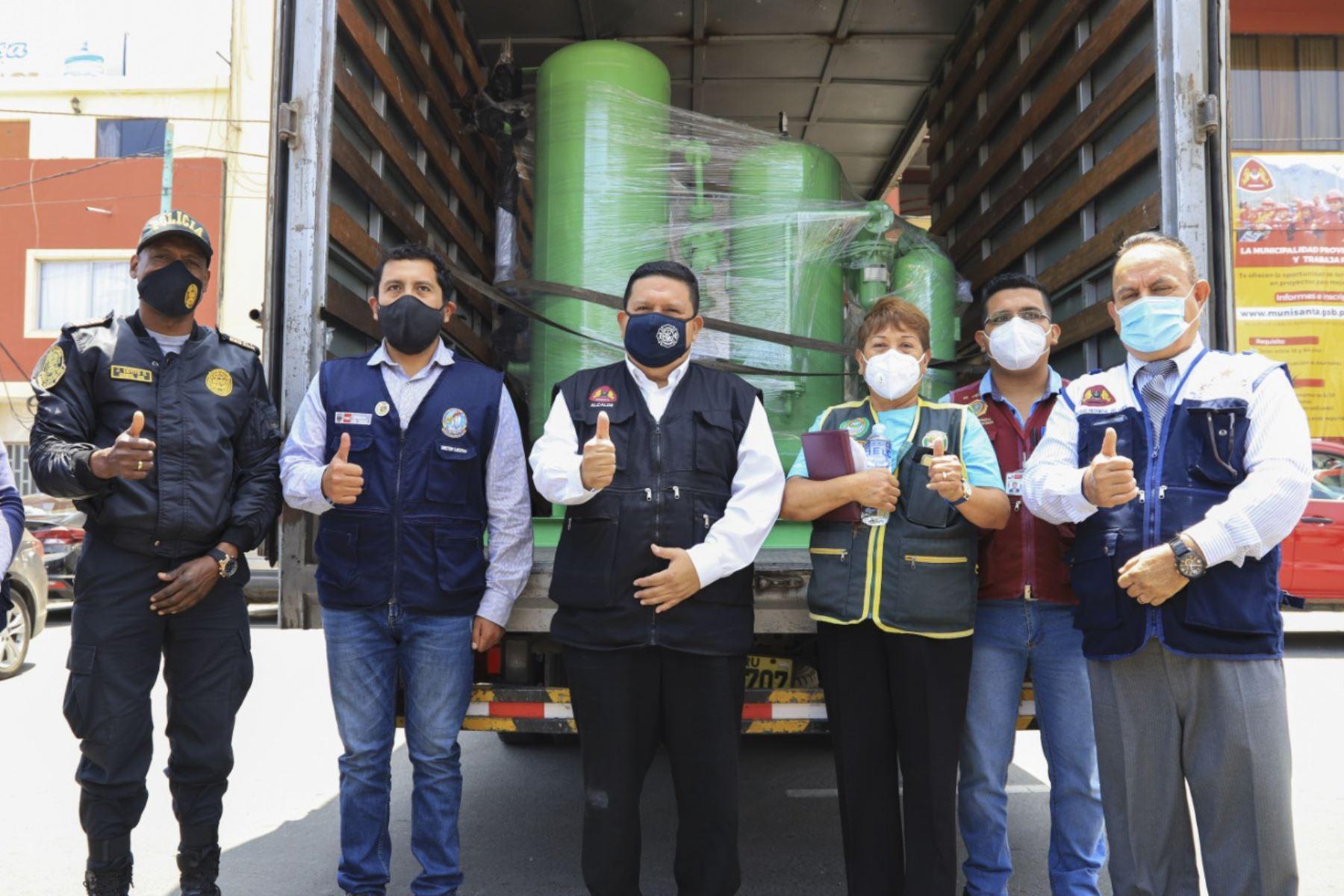 El municipio del Santa (Áncash) adquirió planta de oxígeno medicinal valorizada en 667,904 soles. Foto: ANDINA/Difusión