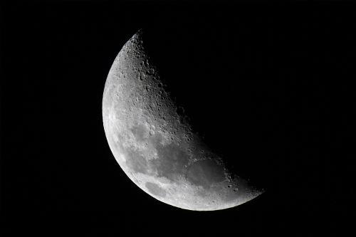 Luna en cuarto creciente. Foto: AFP-