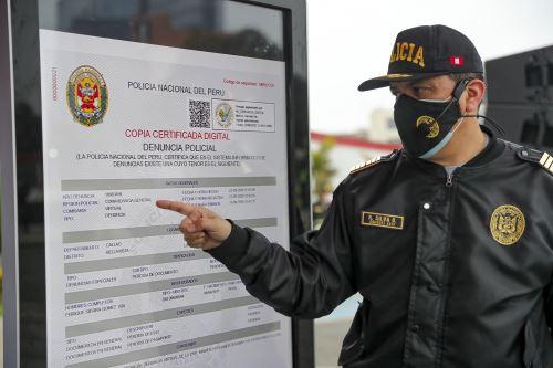 Plataforma permitirá a ciudadanía tramitar y obtener en línea copias certificadas de denuncias por pérdida o hurto de documentos. Foto: ANDINA/Prensa Presidencia