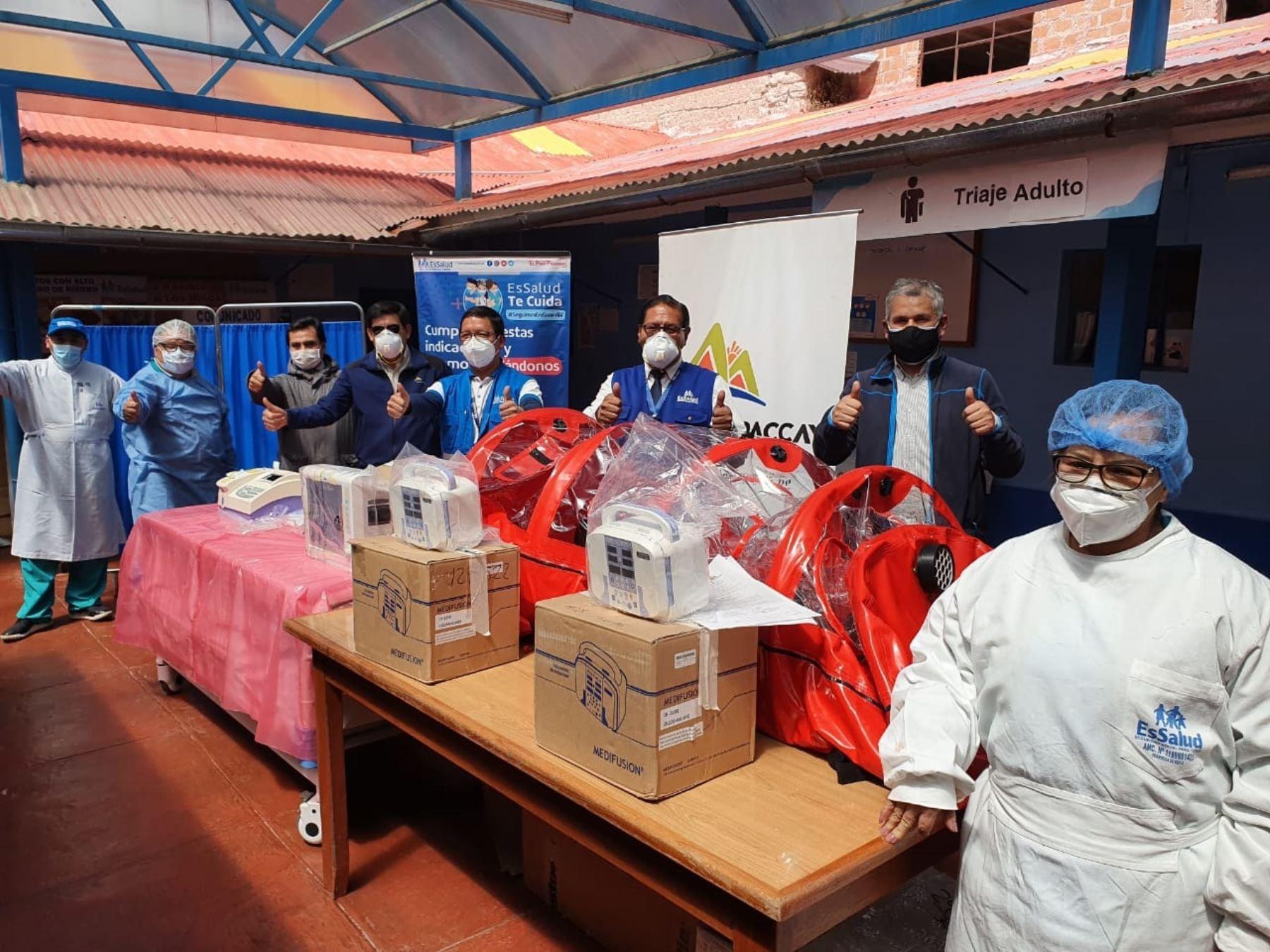 Mineras refuerzan ayudan en la lucha contra el coronavirus (covid-19) que libran las autoridades de salud en provincias de Espinar y Chumbivilcas, región Cusco. ANDINA/Difusión