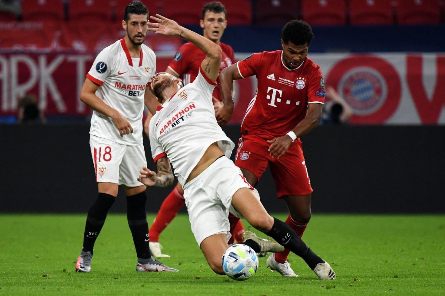 Segundo tiempo: Bayern de Múnich y Sevilla empatan (1-1) por la Supercopa