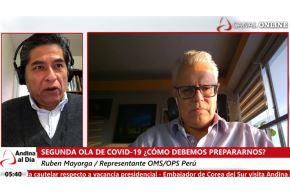 Rubén Mayorga, representante de OMS/OPS Perú Reconoció que el Perú se encuentra en mejores condiciones para enfrentar una posible ola de covid-19, pues ahora los hospitales cuentan con camas disponibles para covid-19 moderado, para las Unidades de Cuidados Intensivos (UCI) y tiene disponibles de cuidados intermedios. ANDINA