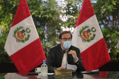 Presidente Vizcarra lidera sesión del Consejo de Ministros en Palacio de Gobierno