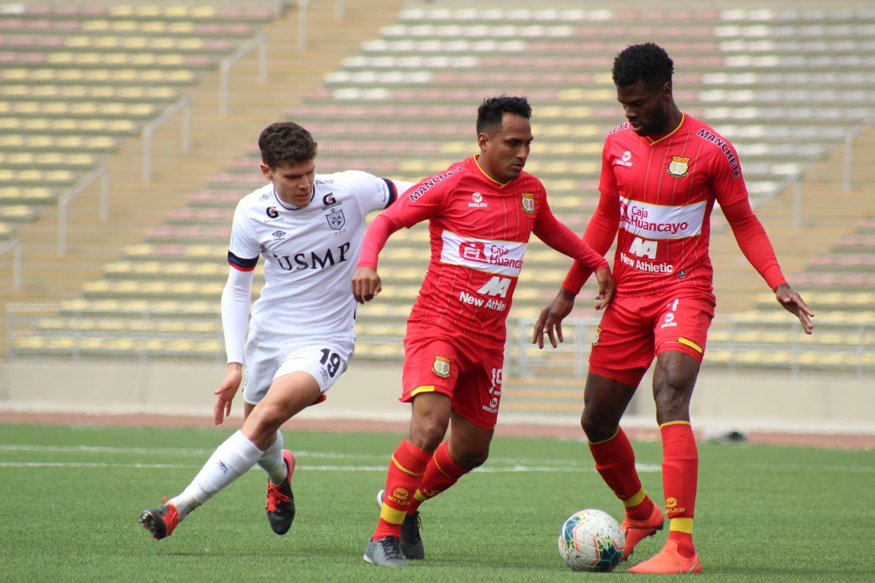 Sport Huancayo y U. San Martín  se enfrentan por la fecha 14 del Torneo Apertura. Foto: Liga 1 en el estadio San Marcos. Foto: @LigaFutProf