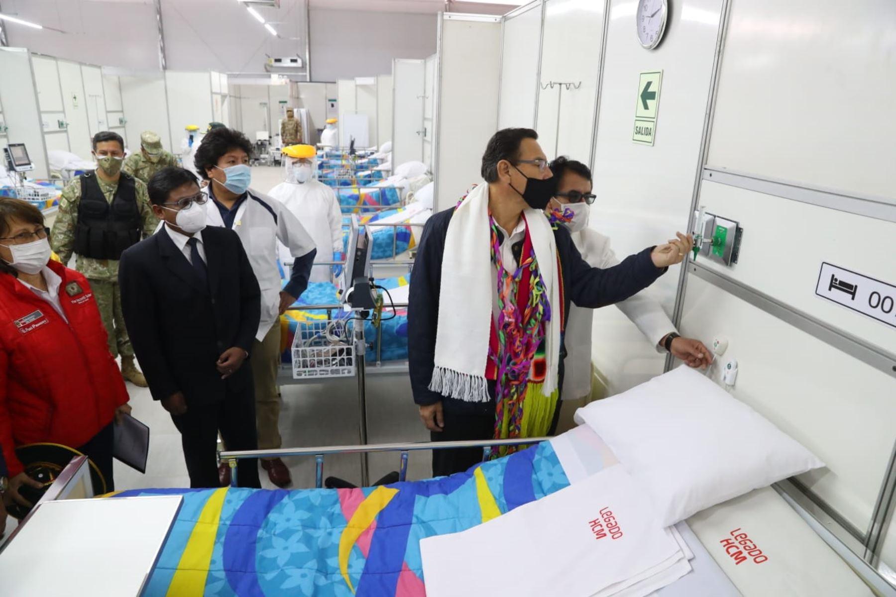 Presidente Vizcarra inaugura centro de atención para pacientes covid-19 en Juliaca | Noticias