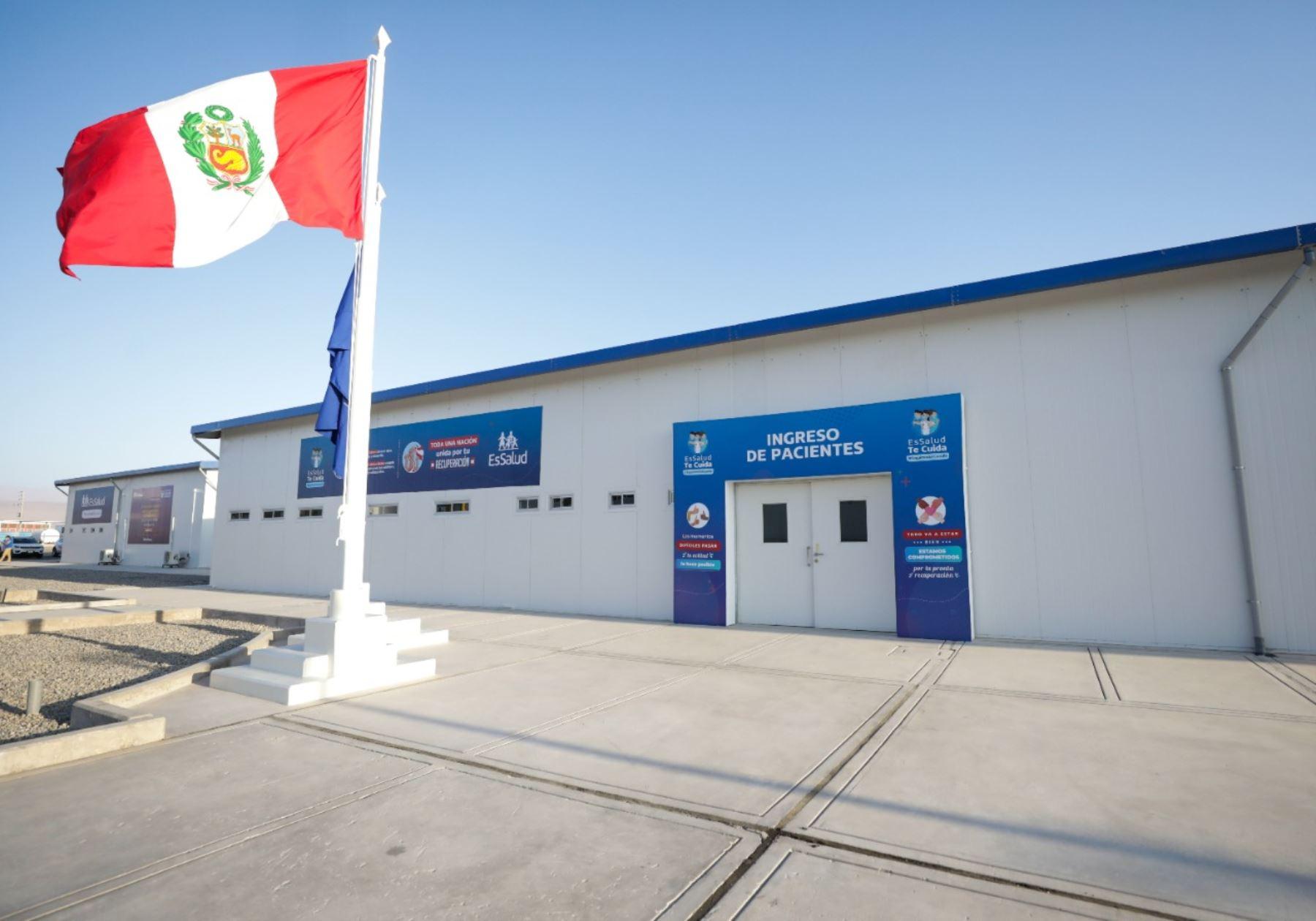 Presidente Martín Vizcarra inspecciona Hospital Viñani de Essalud en Tacna. Foto: ANDINA/Prensa Presidencia