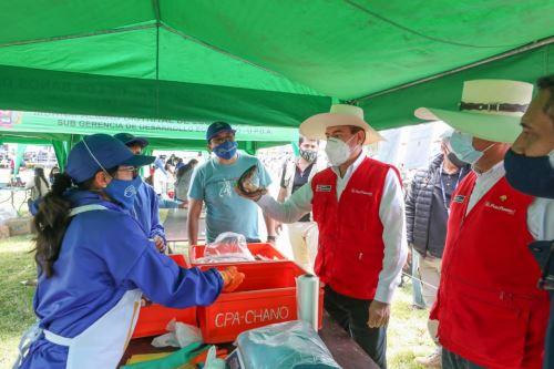 Premier Walter Martos participa en lanzamiento del Mercado de Productores Agropecuarios en Cajamarca