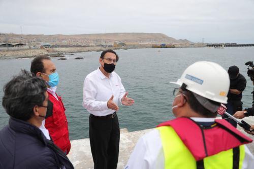 Moquegua: Presidente Martín Vizcarra inspecciona los trabajos de remodelación del Terminal Portuario de Ilo
