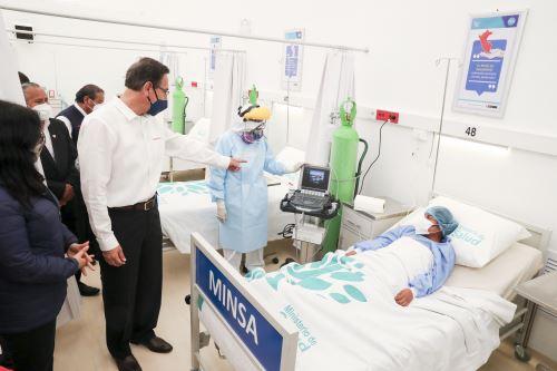 Presidente Martín Vizcarra inaugura Centro de Aislamiento Temporal del Hospital Hipólito Unanue en Tacna
