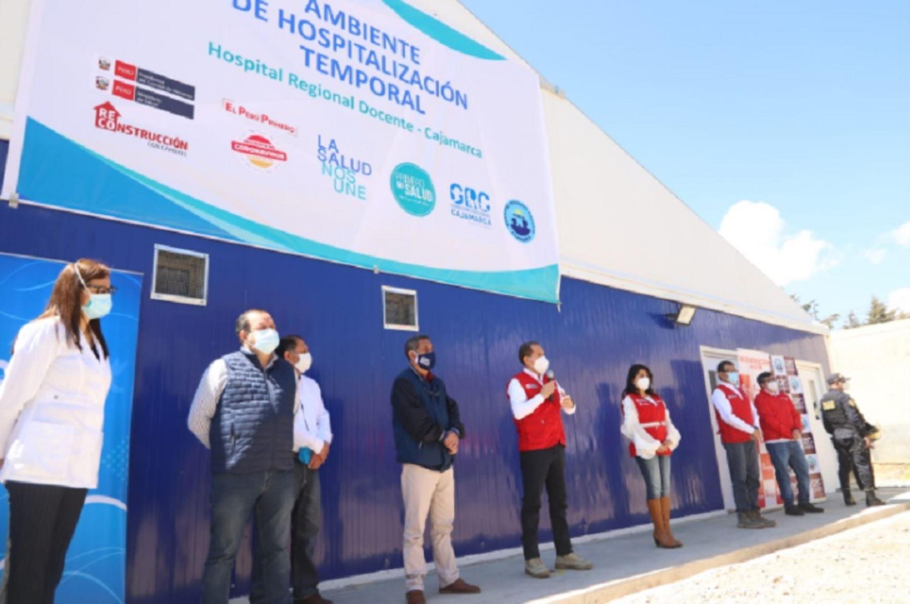 Cajamarca: ARCC entrega Centro de Atención Temporal para pacientes covid-19 | Noticias