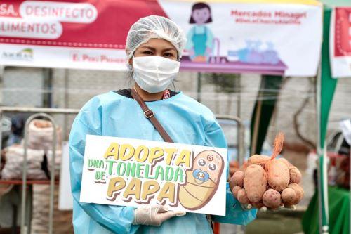 """Agro Rural del Ministerio de Agricultura lanza campaña """" Adopta una tonelada de papa"""""""