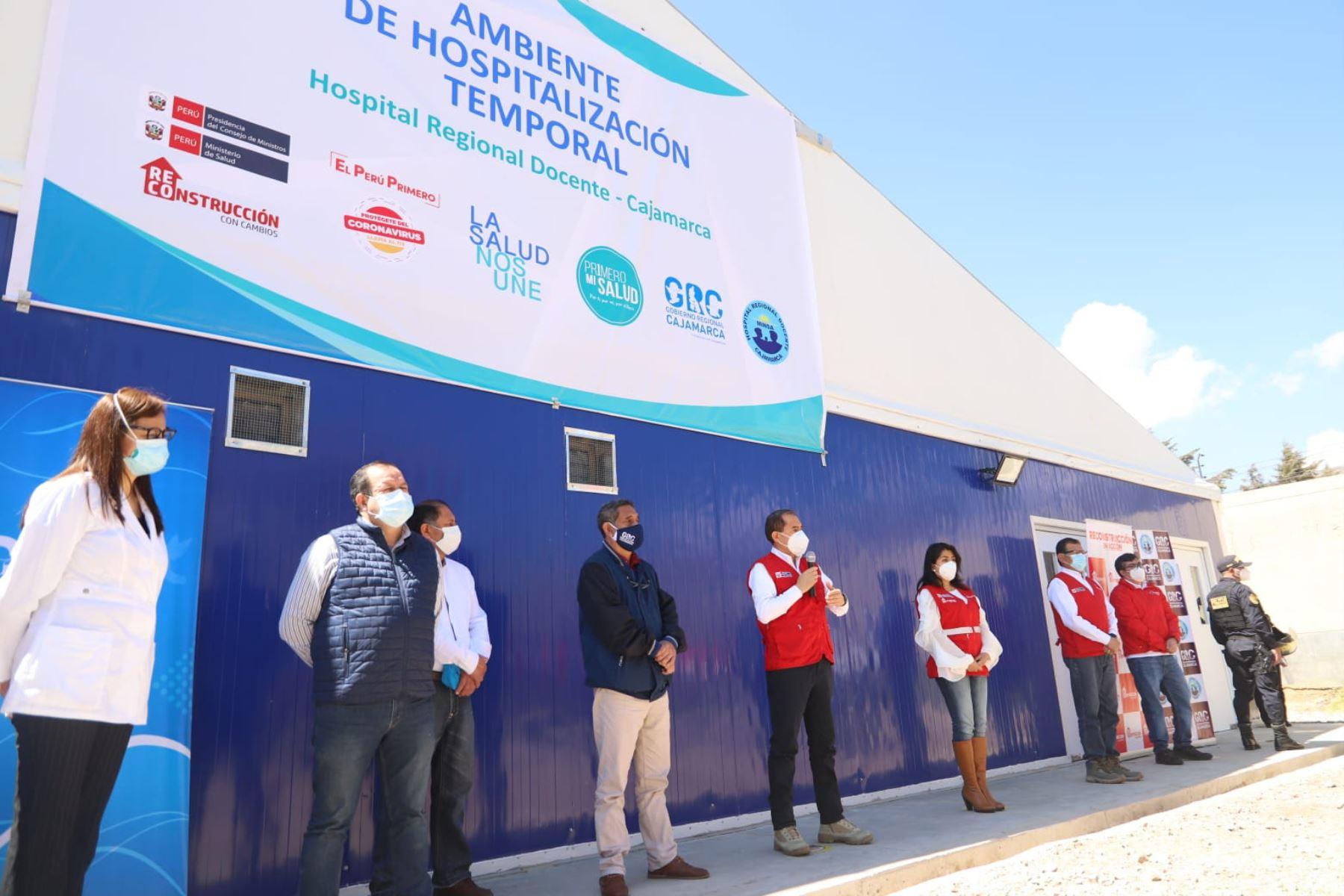 Reconstrucción: entregan Centro de Atención Temporal para pacientes covid-19 en Cajamarca | Noticias