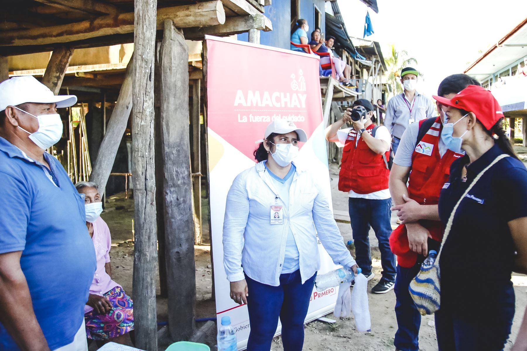 Ministra de Desarrollo e Inclusión Social. Patricia Donayre supervisa en Loreto la atención de su sector a comunidades indígenas, adultos mayores, personas con discapacidad y primera infancia en la emergencia sanitaria. Foto: Midis