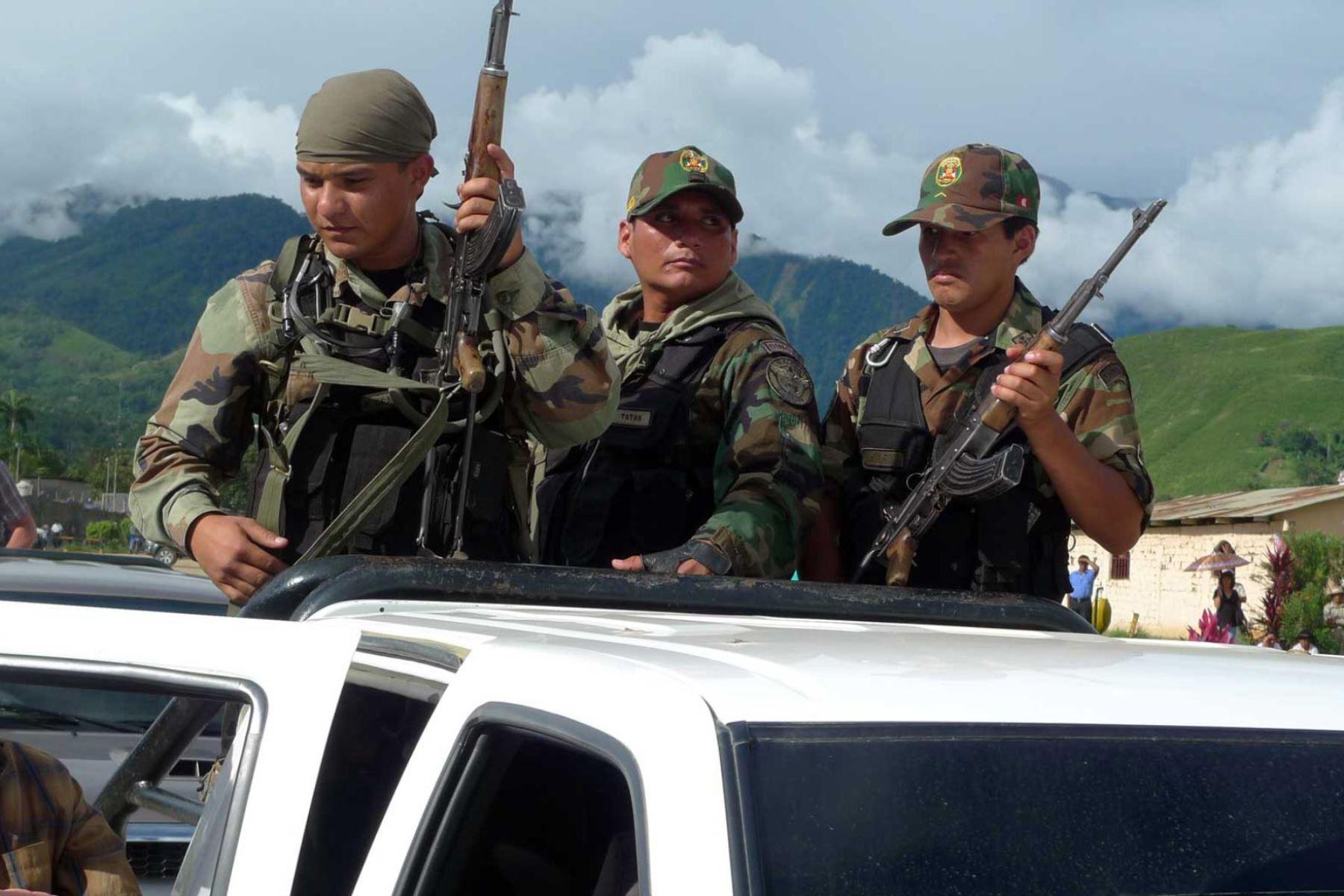 La Policía Nacional del Perú mantendrá el control del orden interno, con el apoyo de las Fuerzas Armadas. ANDINA