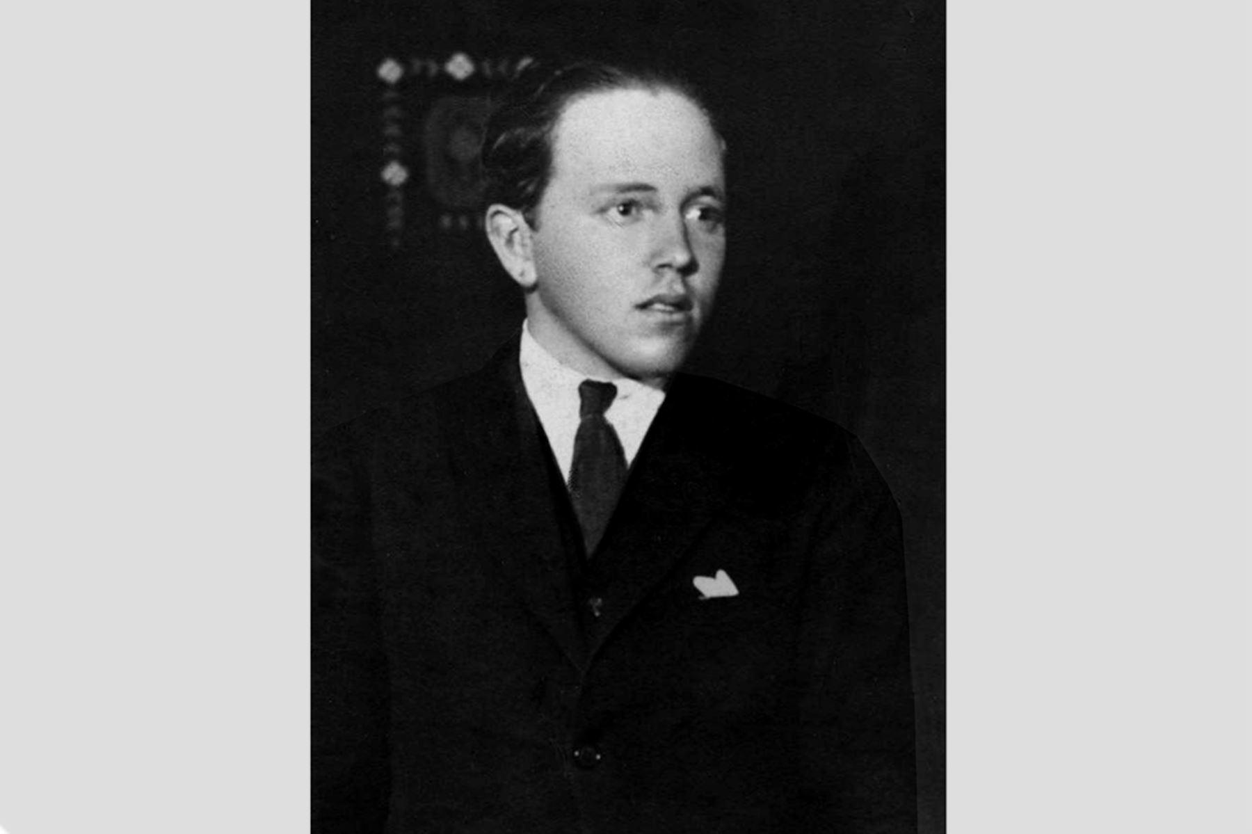 Lima - Década 1920 / Historiador Raúl Porras Barrenechea.  Foto: Archivo Familiar