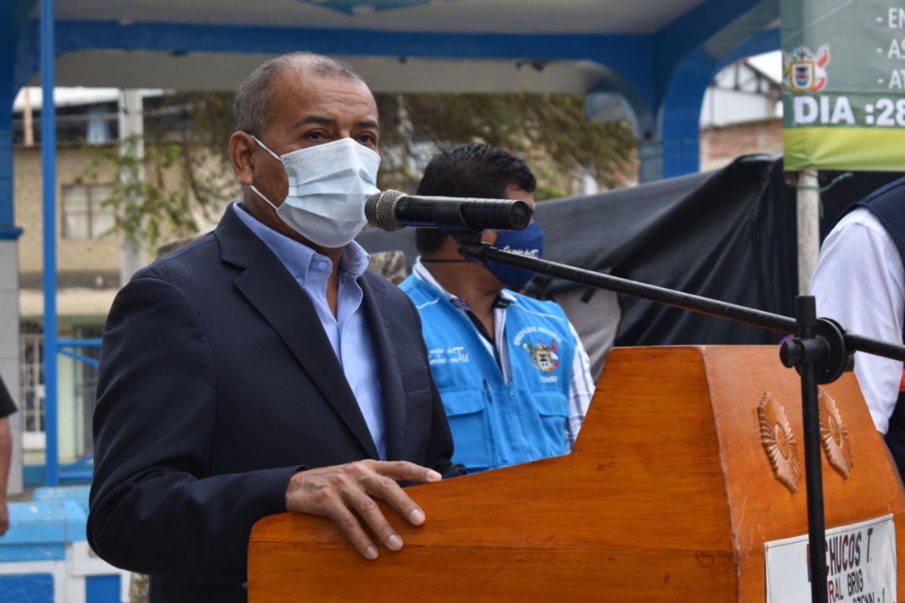 Gobernador regional de Tumbes, Wilmer Dios, saludó la proclamación de Pedro Castillo como presidente de la República. Foto: ANDINA/Difusión.