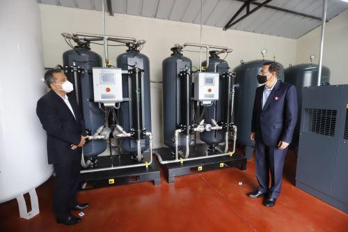 El presidente de la República, Martín Vizcarra, participa en la entrega de la donación de dos plantas de oxígeno