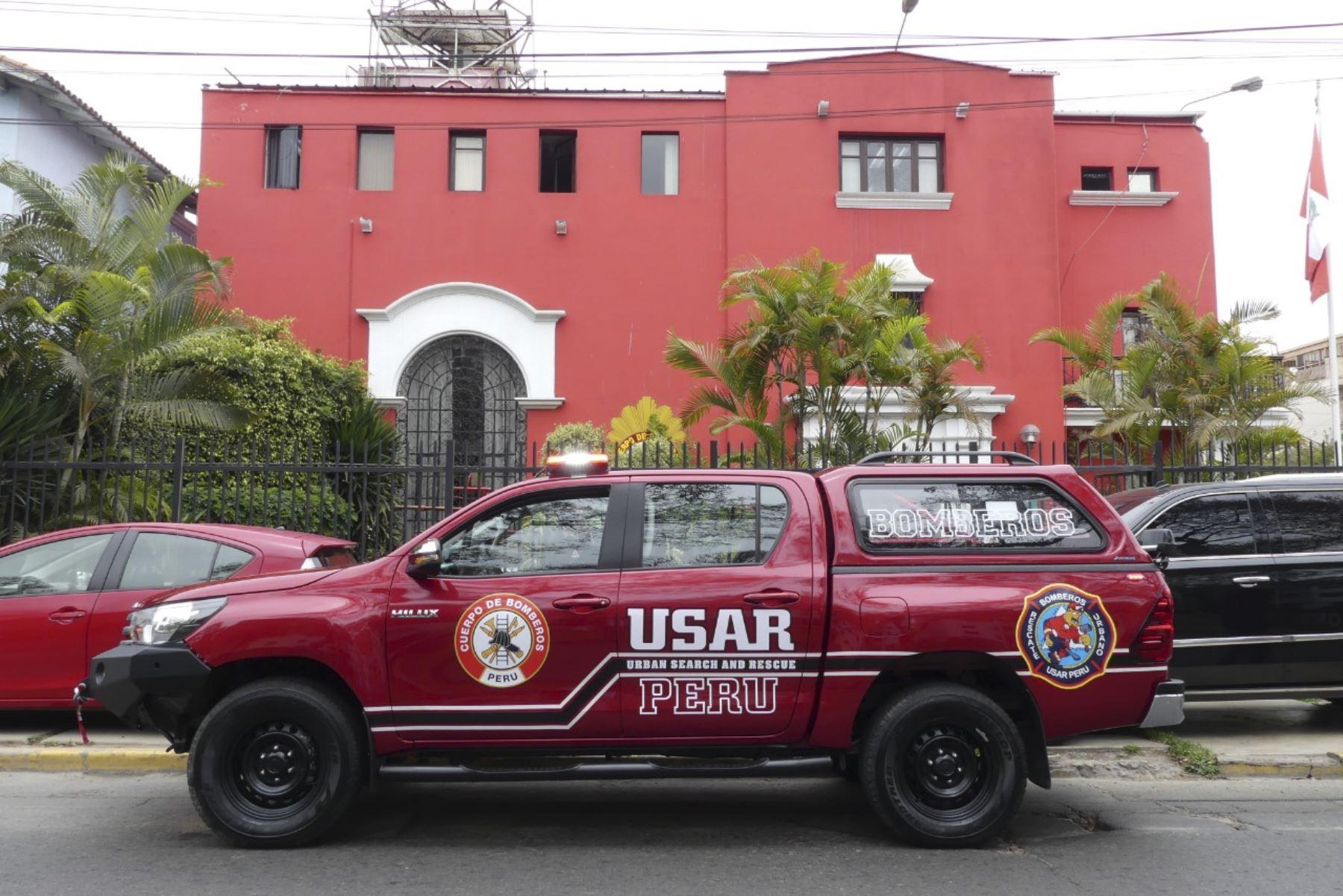 Los bomberos USAR (Urban Search and Rescue) del Cuerpo General de Bomberos Voluntarios del Perú en Tacna podrán atender incidentes como derrumbes. Foto: ANDINA/CGBVP