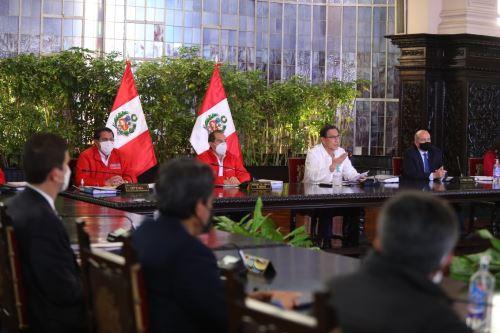 El presidente Martín Vizcarra, informa sobre las acciones que realiza el Gobierno frente al Covid-19