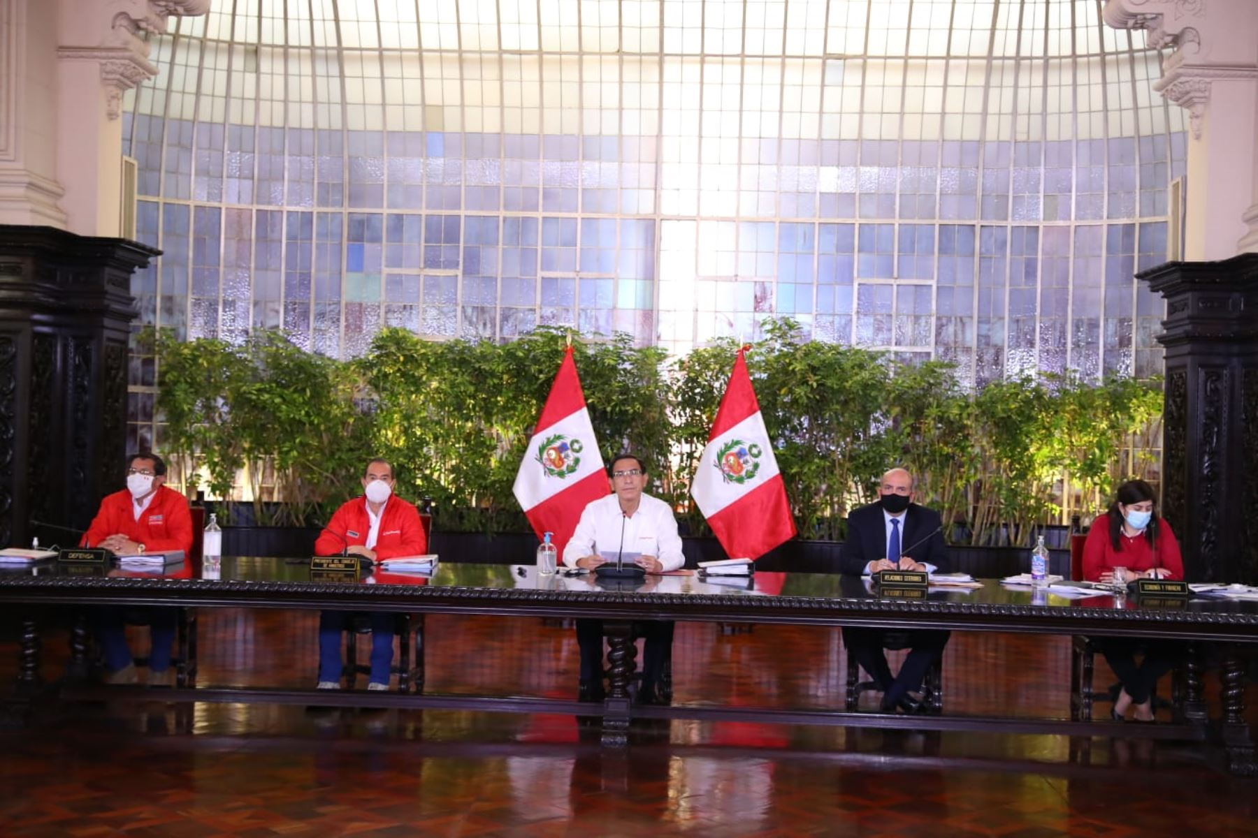 El presidente Martín Vizcarra, brinda conferencia para informar sobre las acciones que realiza el Gobierno frente al Covid-19. Foto: ANDINA: Prensa Presidencia