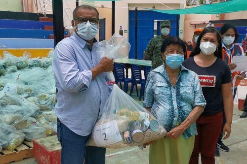 Tumbes: Gobierno Regional entrega 8 toneladas y media de alimentos a pobladores de Zarumilla