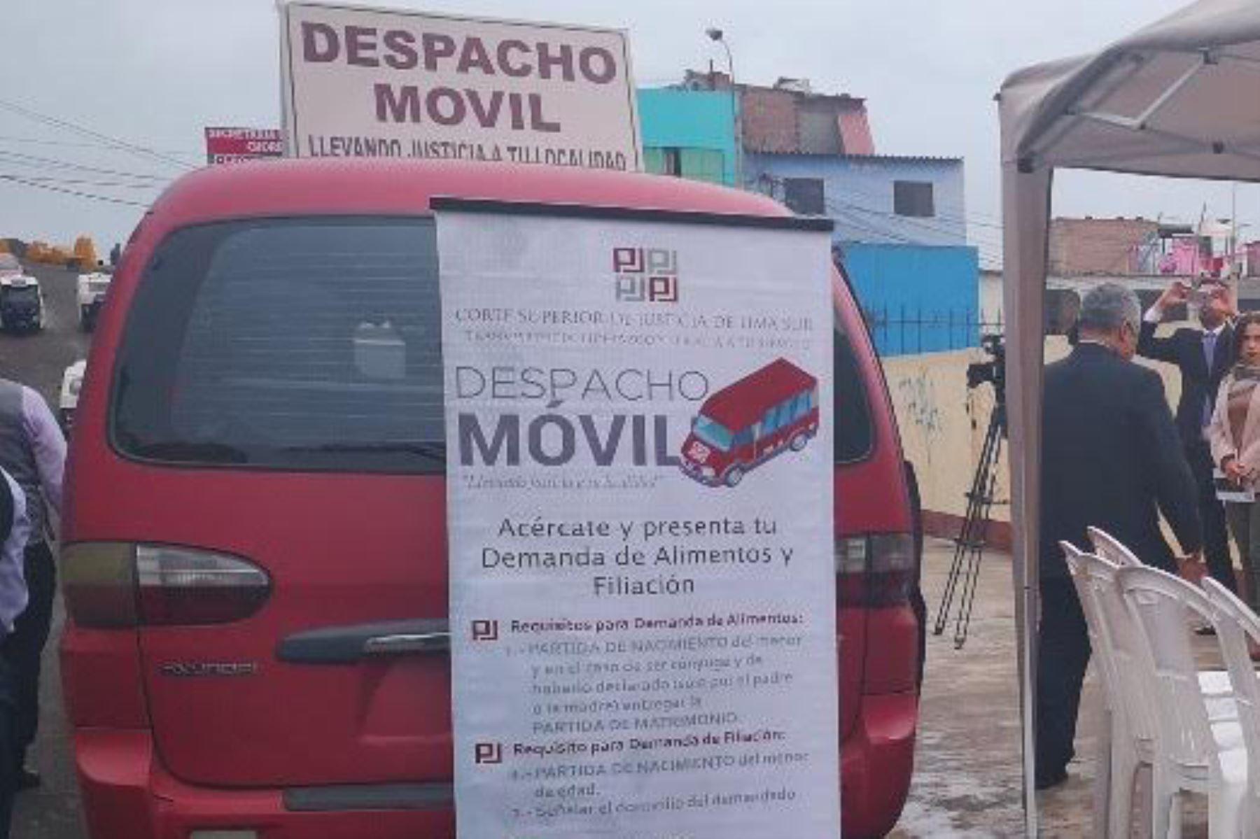 El programa Despacho Móvil fue creado para que los jueces y auxiliares puedan trasladarse a las zonas vulnerables de Lima Sur. Foto: ANDINA/Corte Superior Lima Sur