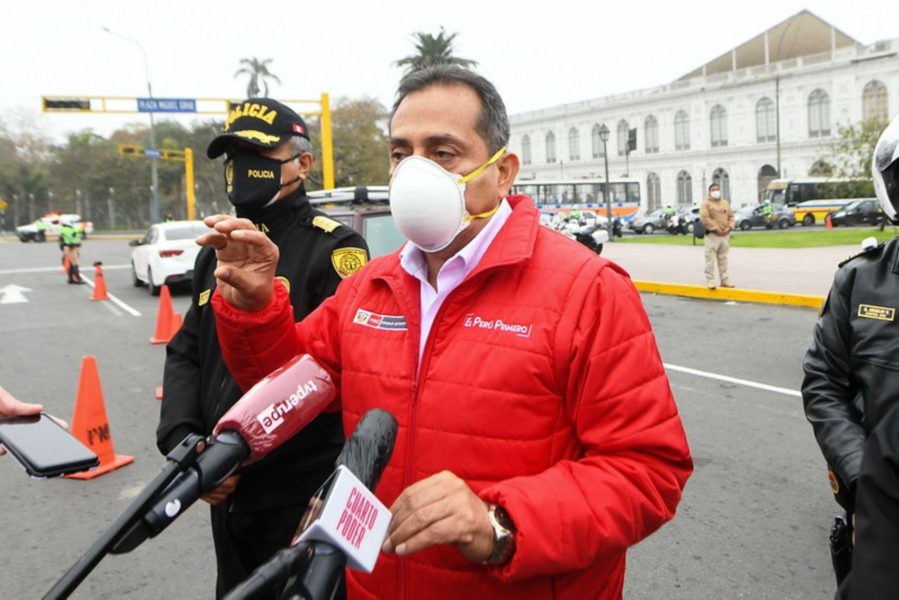 Ministro del Interior, César Gentille, supervisó acciones de control de la Policía en Lima. Foto: ANDINA/Difusión.