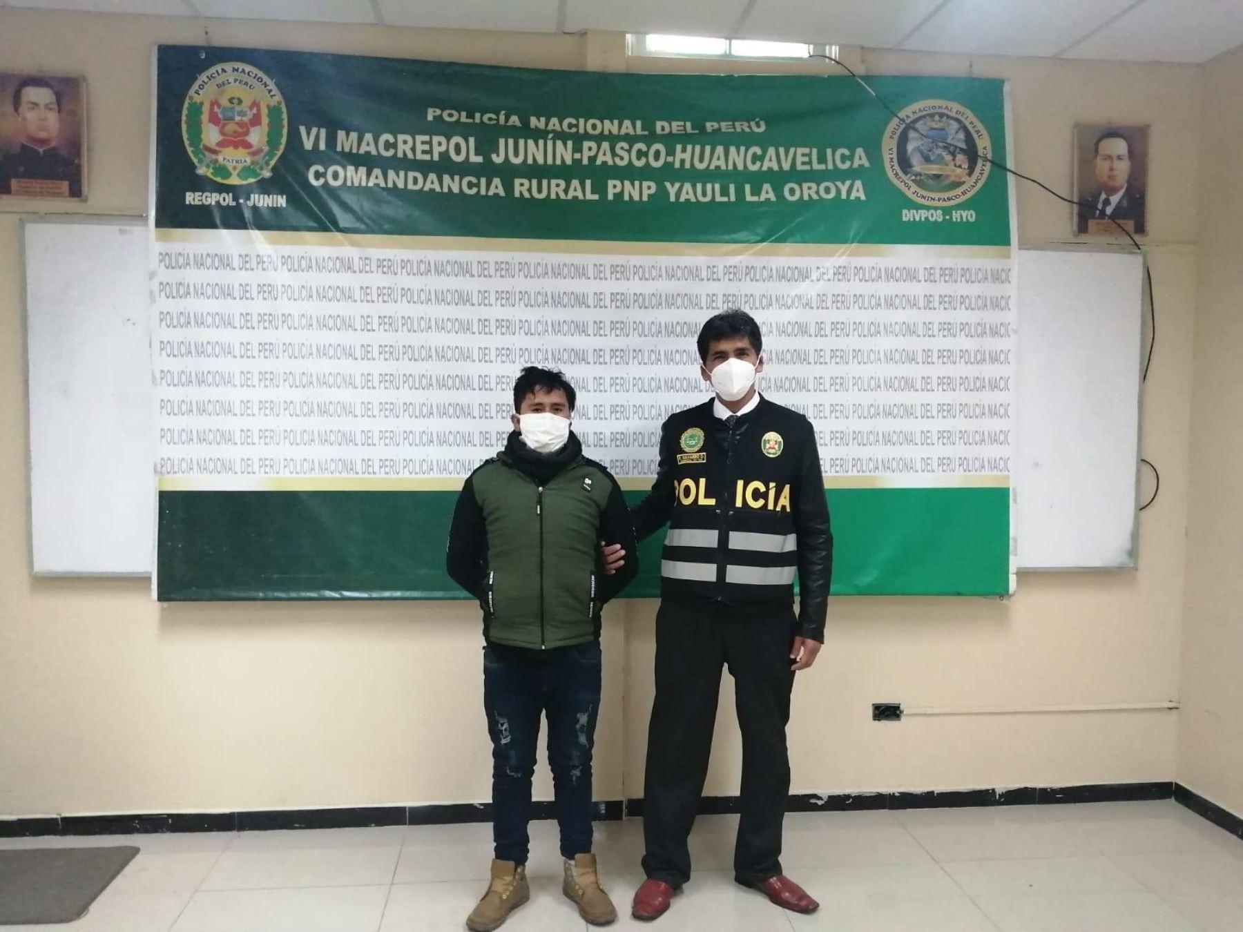 Policía captura en La Oroya a sujeto implicado en presunto caso de feminicidio perpetrado en Pasco.