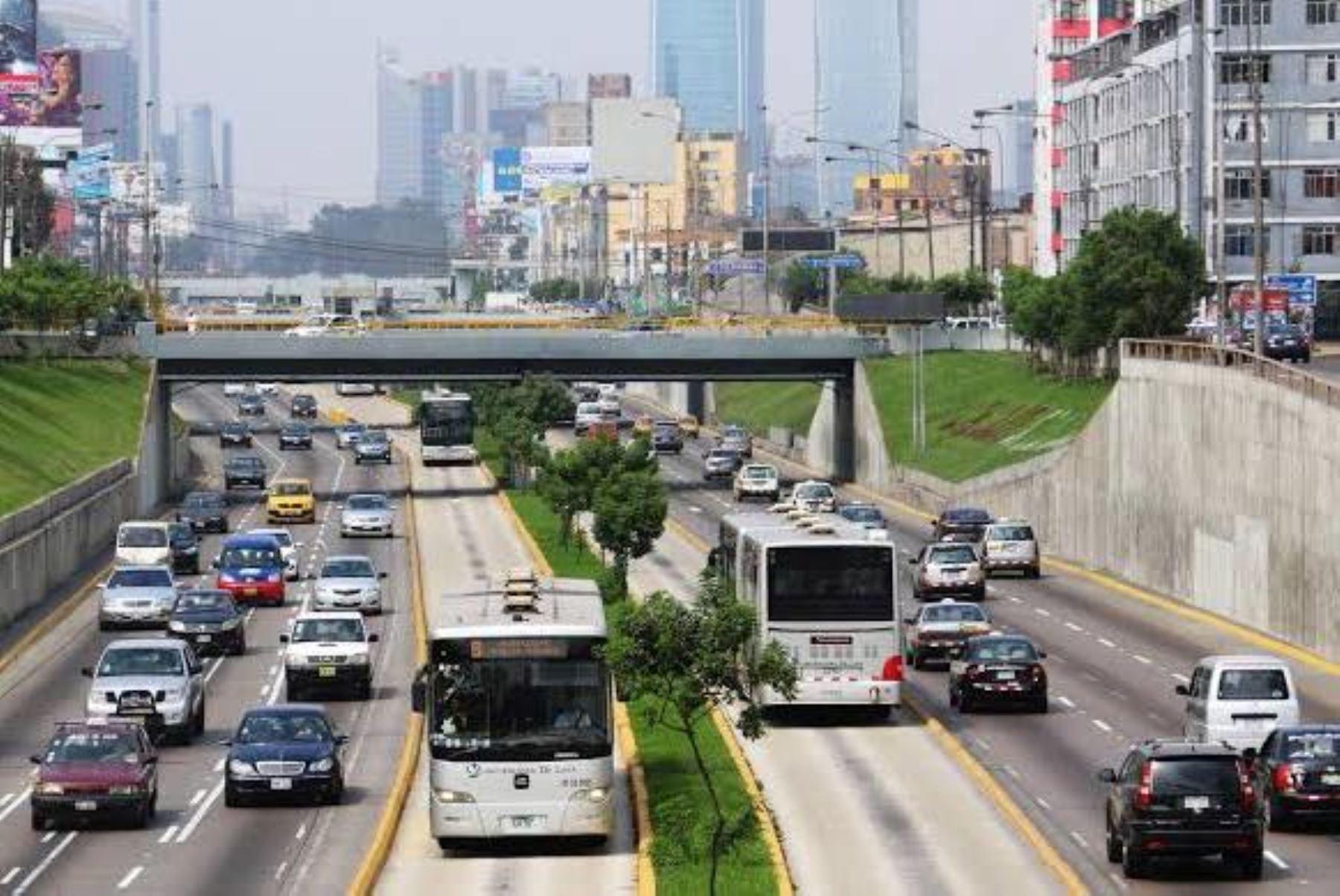 Vía expresa del Paseo de la República. Foto: ANDINA/Difusión.