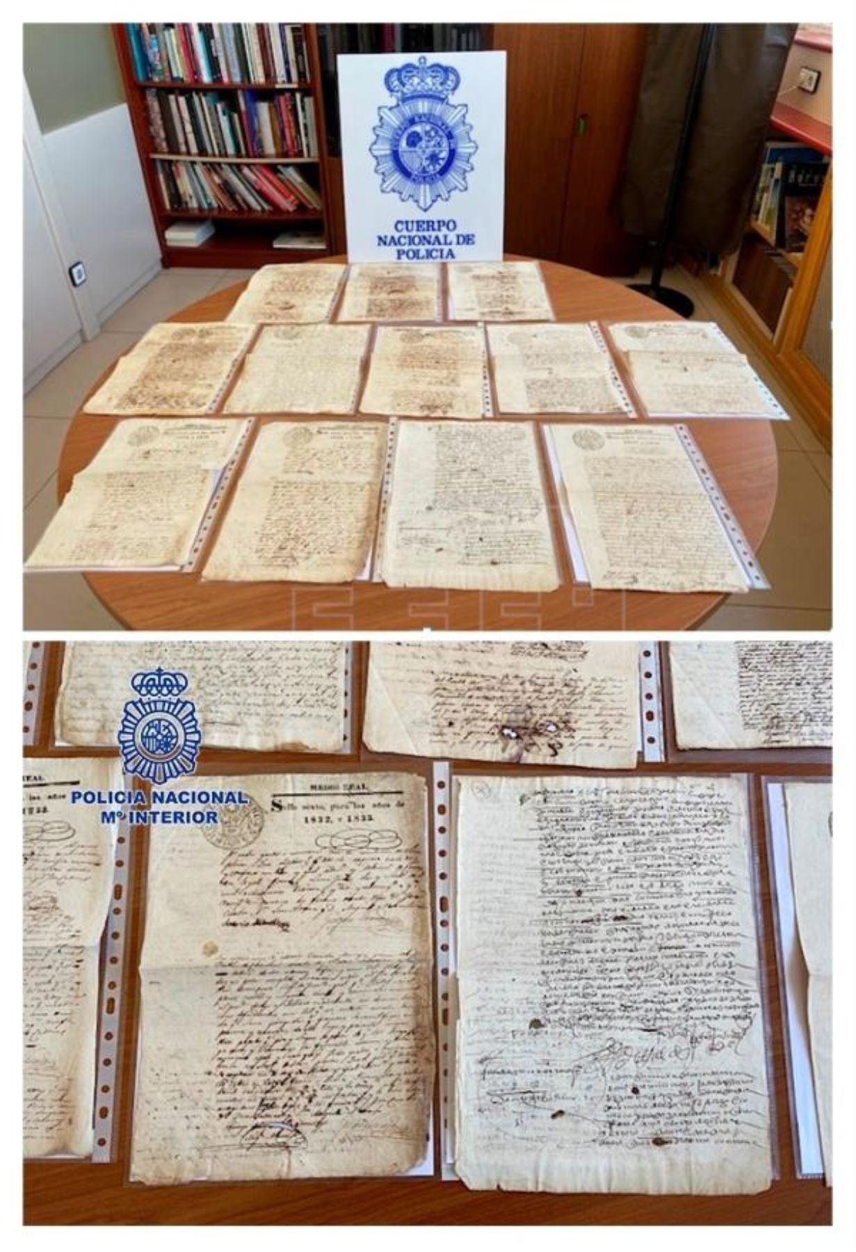 Recuperan en España 28 manuscritos originales del Virreinato del Perú Foto: EFE