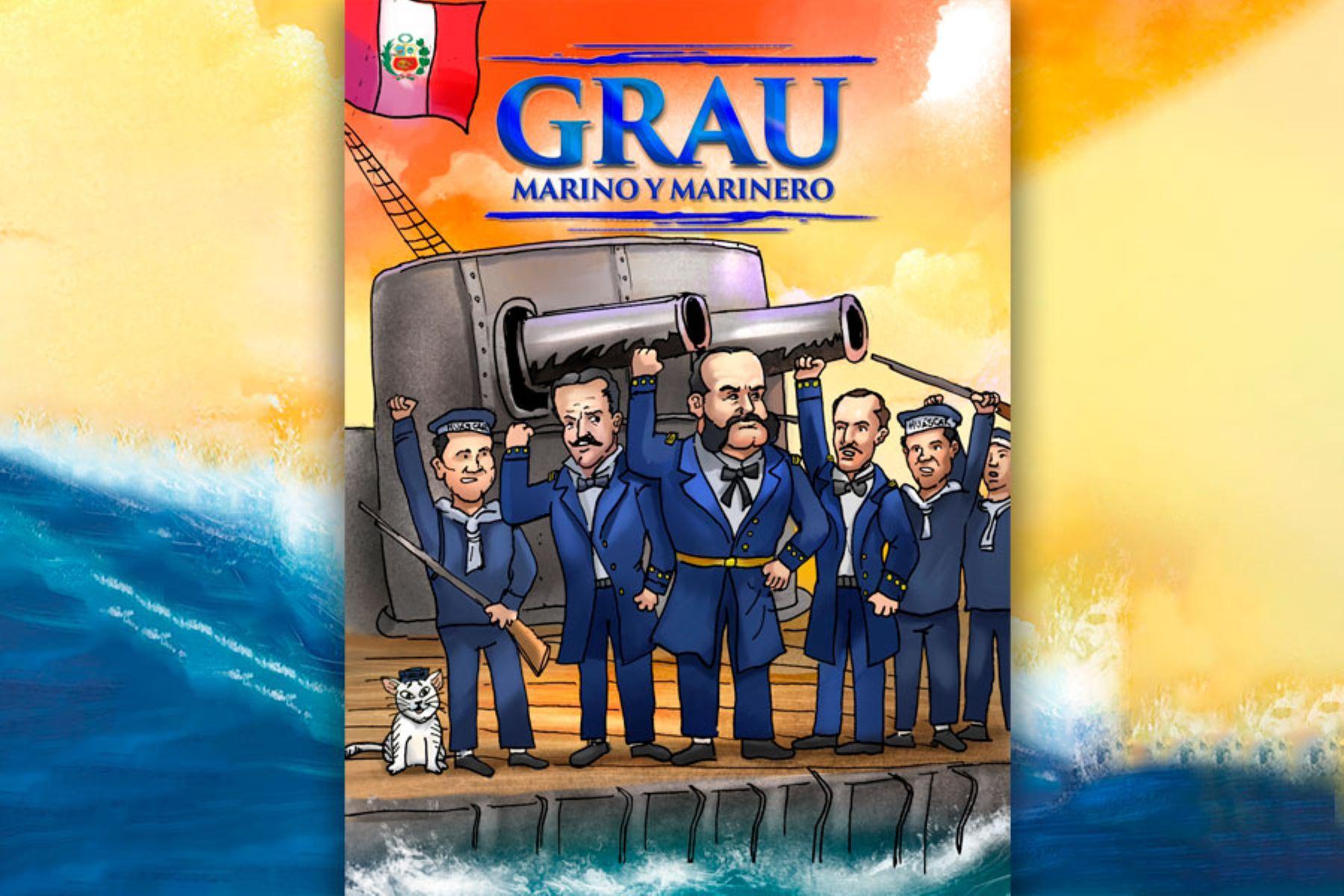 """Portada del libro """"Grau, marino y marinero"""", de Carlos Rojas Feria"""