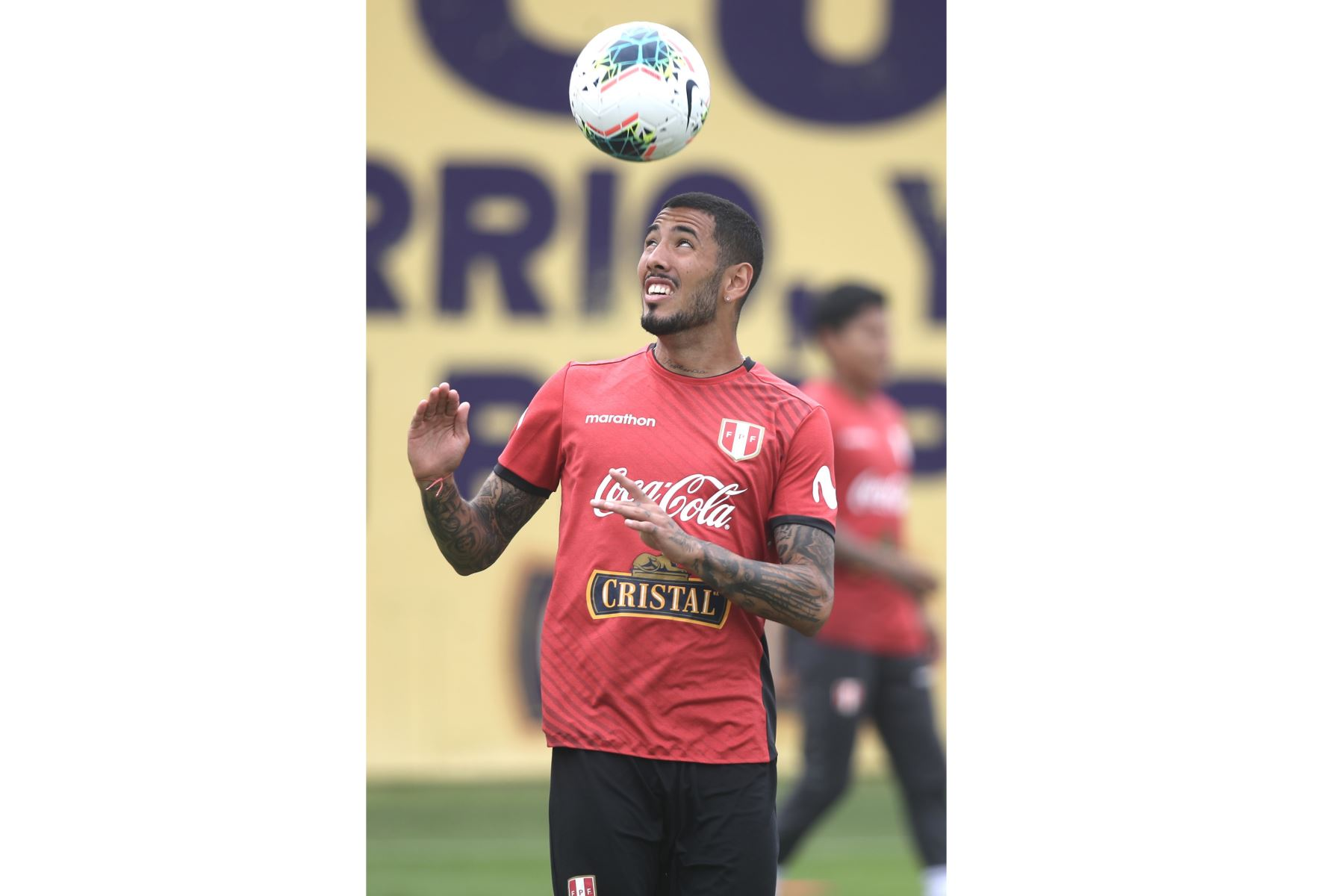 El futbolista Sergio. Foto: @SeleccionPeru