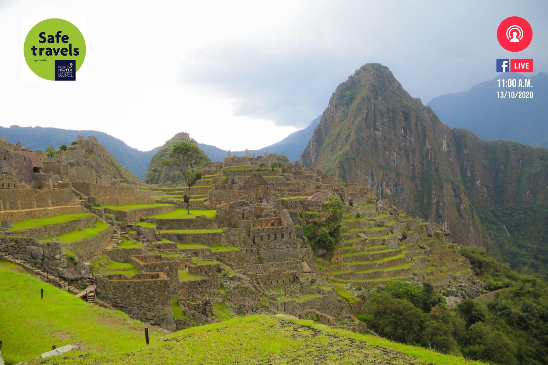 Machu Picchu, el icono turístico de Perú, fue el primer atractivo en recibir el sello Safe Travels que lo reconoce como destino seguro ante la covid-19. ANDINA/Difusión