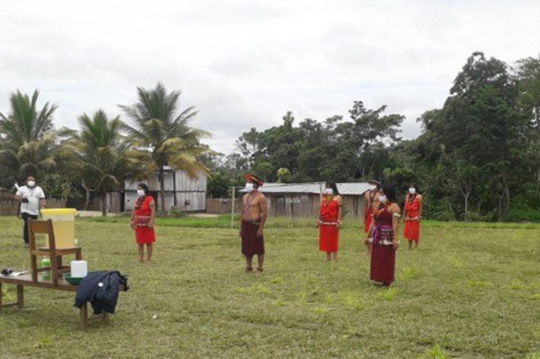 Las mascarillas fueron entregadas al Comando Covid Indígena de la región San Martín y distribuidas a las federaciones. Foto: ANDINA/Difusión