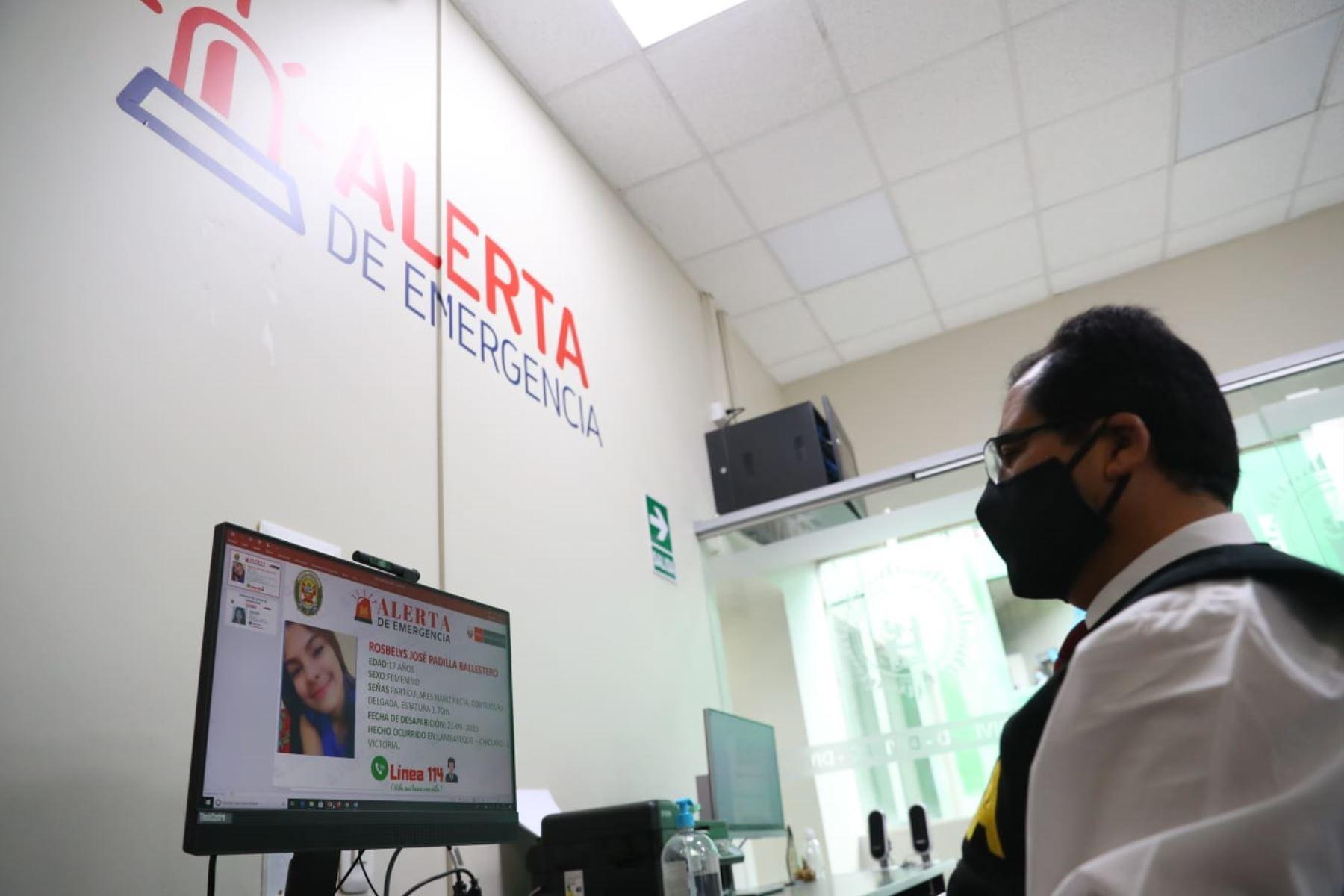 El Ministerio del Interior ha implementado la Línea 114 para reportar casos de personas desaparecidas, y brindar información que ayude a ubicar a la persona. Foto: ANDINA/Prensa Presidencia