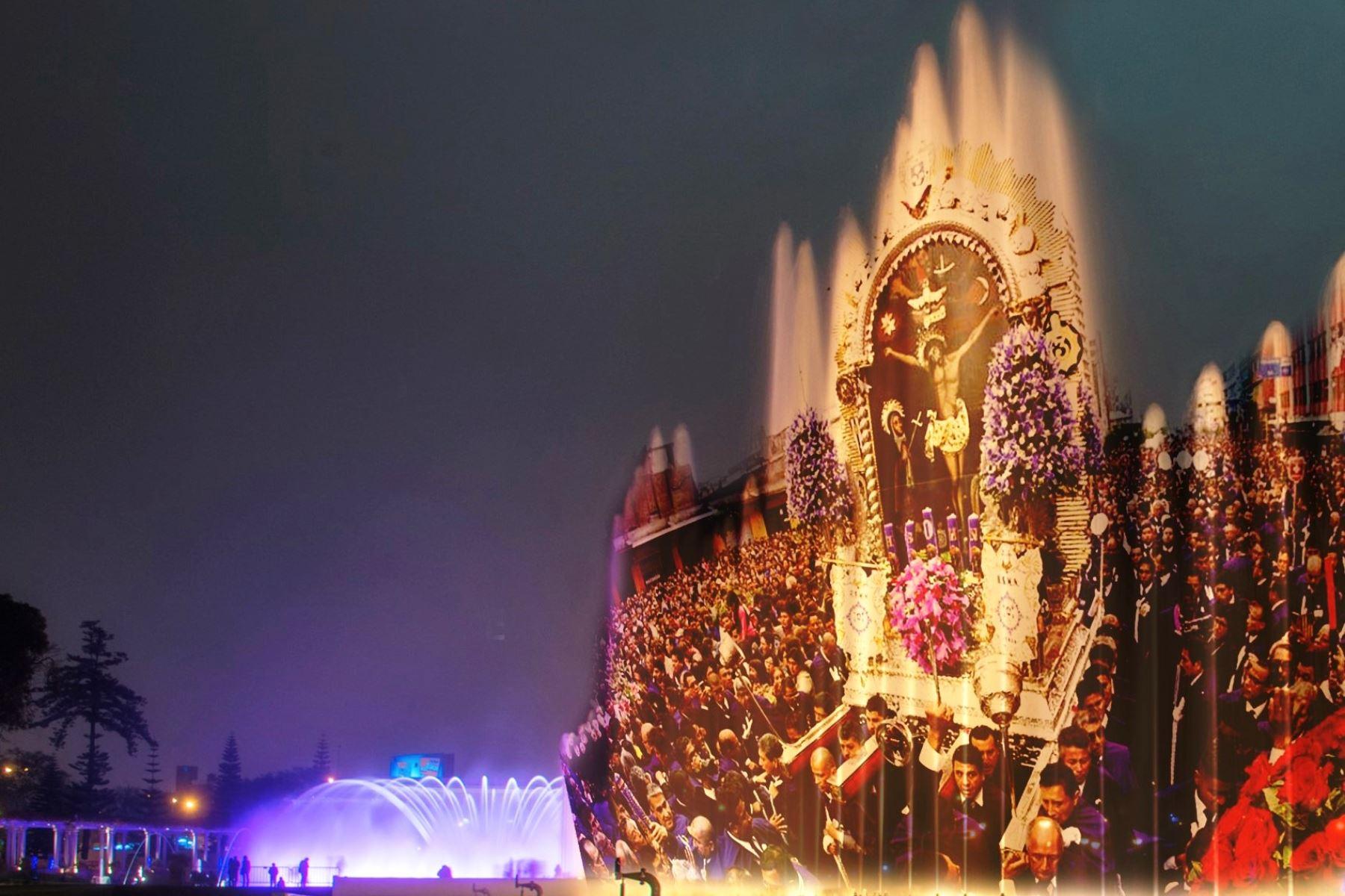 Señor de los Milagros: Circuito Mágico del Agua ofrecerá espectáculo virtual. Foto: ANDINA/Difusión.