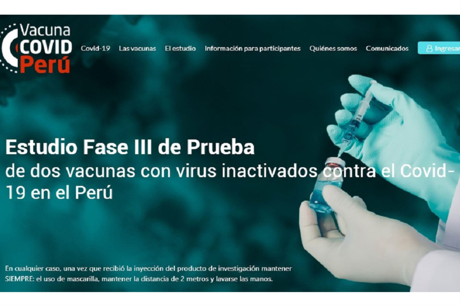 La Unidad de Ensayos Clínicos de la Universidad Nacional Mayor de San Marcos (UNMSM) amplió a 1,000 el número de voluntarios que podrá participar en el estudio de la fase III de dos vacunas inactivadas contra la covid-19 en el Perú, del laboratorio chino Sinopharm.