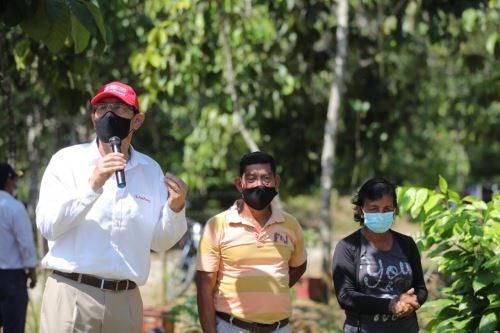 Peruvian President Martin Vizcarra in Tamshiyacu, a locality in the rainforest region of Loreto. Photo: ANDINA/Presidency of the Republic.