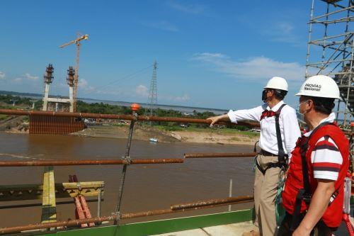 Loreto: presidente Vizcarra supervisa el avance de obras del puente Nanay