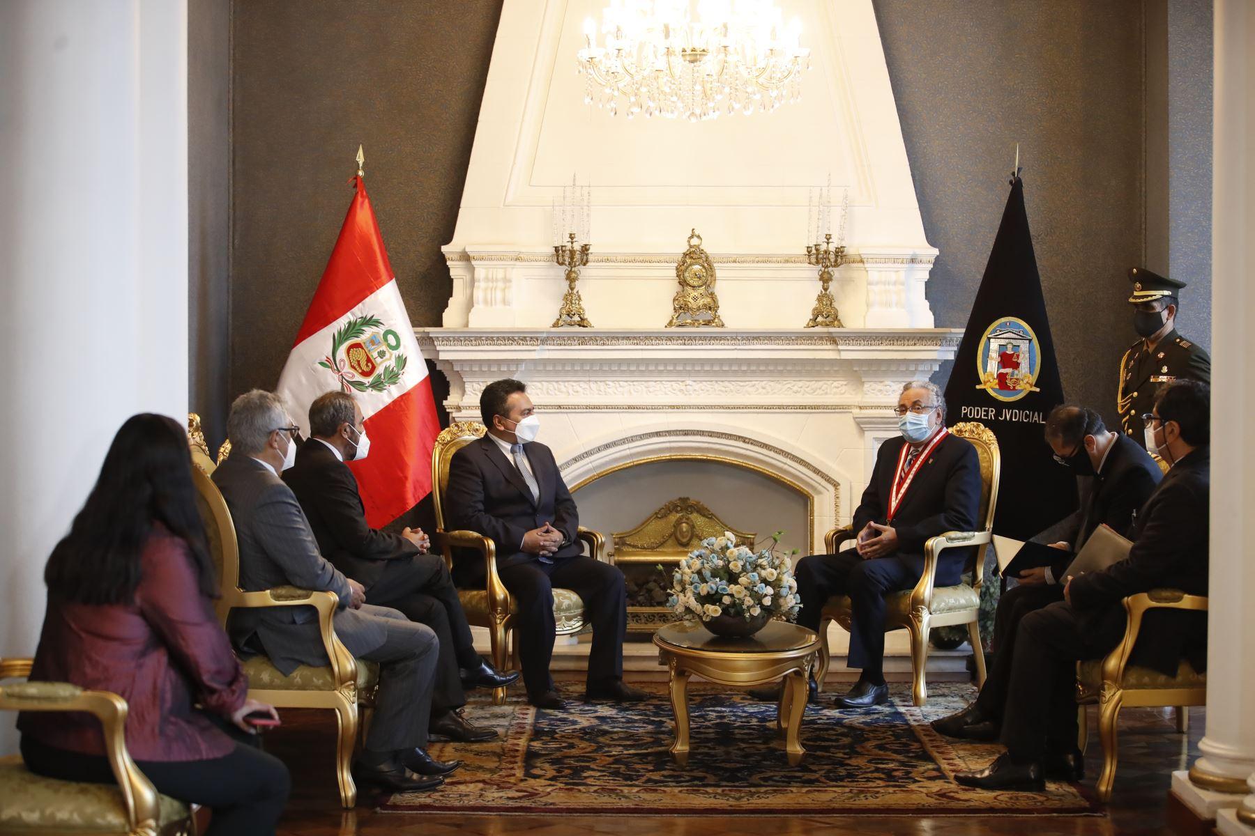 Editora Perú y Poder Judicial suscriben convenio de cooperación interinstitucional. Foto: ANDINA/ Juan Carlos Guzmán