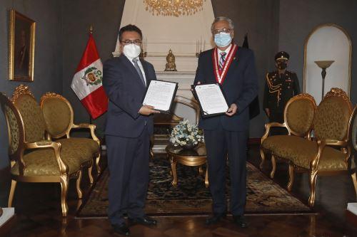Editora Perú y Poder Judicial suscriben convenio de cooperación interinstitucional