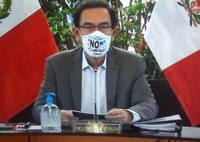 Encabezados por el presidente de la República, Martín Vizcarra, el Gobierno lanzó la campaña para promover el uso de mascarillas reutilizables y envases biodegradables. ANDINA/Difusión