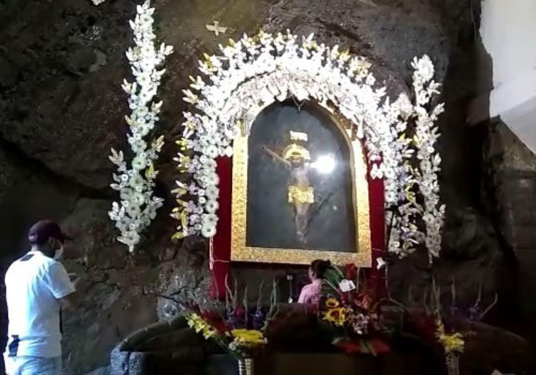 El emblemático Santuario del Señor de Muruhuay de Tarma, en Junín, reabre sus puertas al público e implementa protocolo de bioseguridad para regular visita de fieles. ANDINA/Difusión