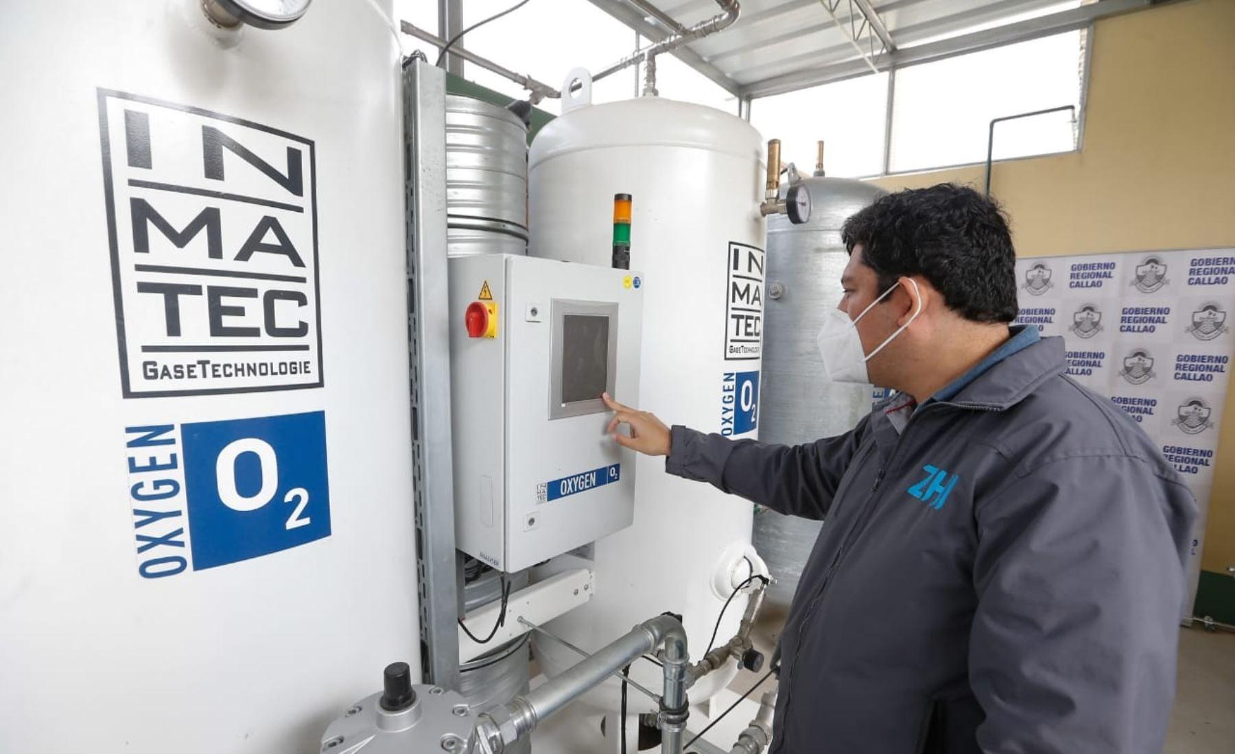 El Minsa recibió del Gobierno Regional de Callao la donación de cuatro plantas de oxígeno para fortalecer la atención de pacientes afectados por la  COVID-19 en los hospitales Daniel A. Carrión, San José y Ventanilla. Foto: Minsa