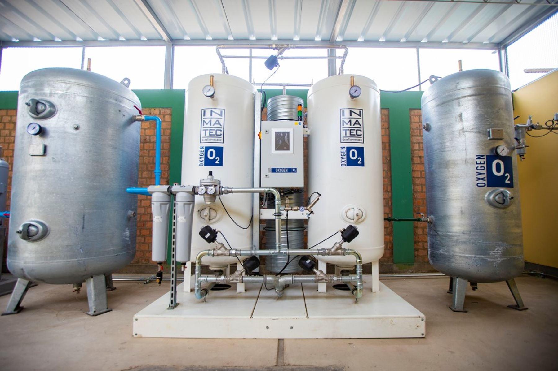 Empresas donan plantas de oxígeno y otros equipos en diversas regiones para reforzar lucha contra la covid-19. ANDINA/Difusión