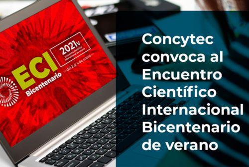 Encuentro Científico Internacional Bicentenario se realizará de manera virtual del 2 al 4 de enero de 2021
