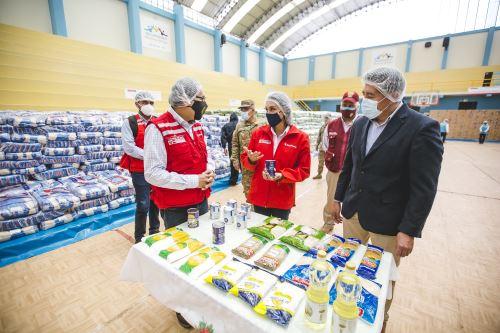 Midis entrega 600 toneladas de alimentos para población vulnerable de Arequipa