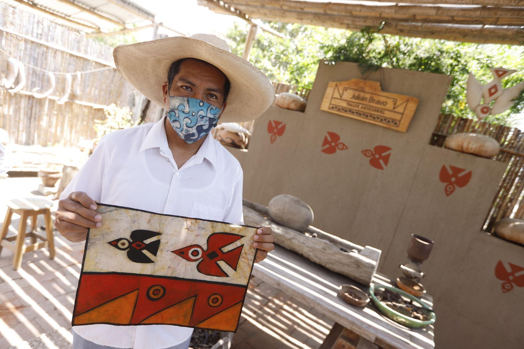 Ministra de Comercio Exterior Roció Barrios, realizo visita de trabajo a la Huaca Túcume en Lambayeque. Foto: ANDINA/ Mincetur
