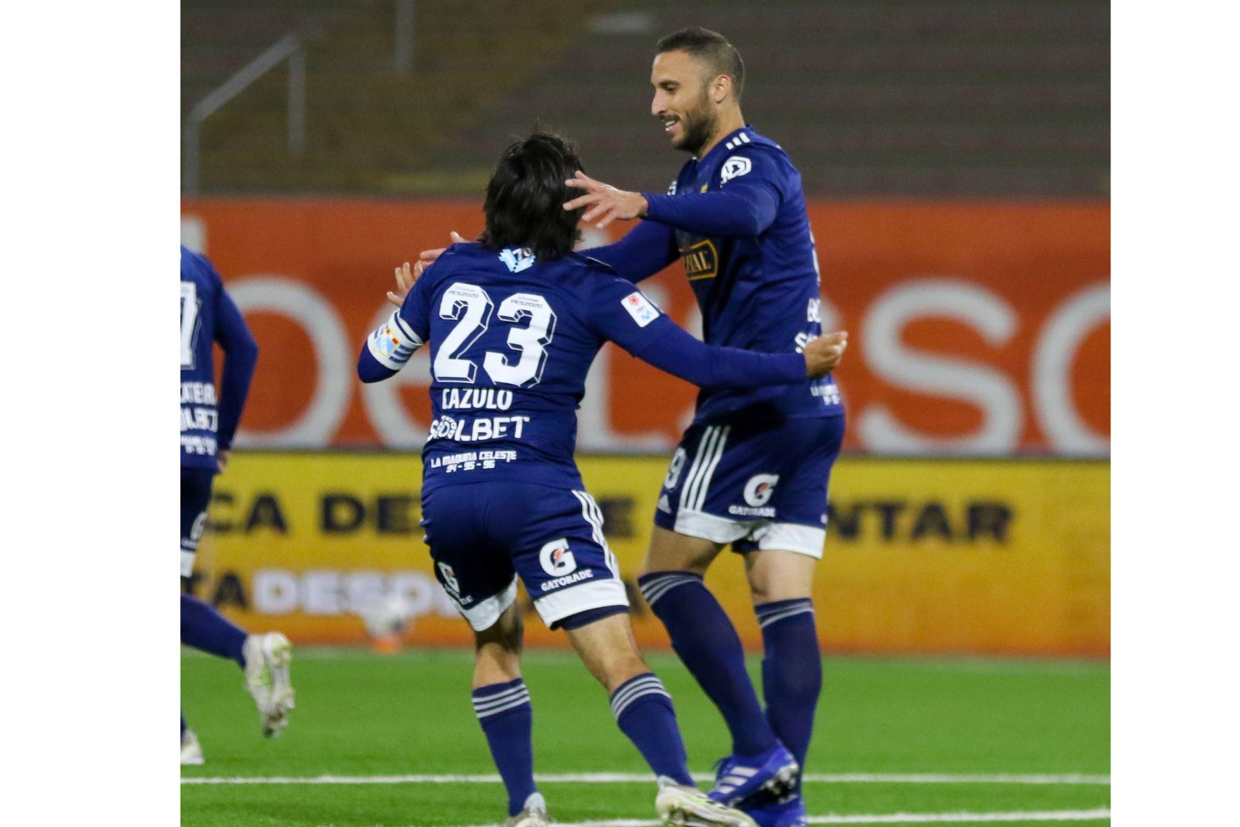 Sporting Cristal gana 3 a 2  al Club Cienciano, en partido de la fecha 1 Fase 2 de la Liga Movistar, en el estadio UNMSM. Foto: ANDINA/ Liga 1
